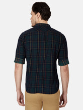 Load image into Gallery viewer, Men's Cotton Slim-fit Checked Casual Shirt-MS4773FGreen
