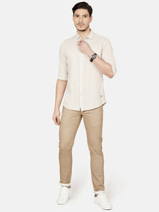 Men's Slim-fit Casual Shirt-OJN1011FCream