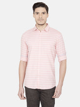 Load image into Gallery viewer, Men's Cotton Slim-fit Striped Casual Shirt-OJN1059FOrange