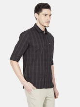 Load image into Gallery viewer, Men's Cotton Slim-fit Casual Shirt-OJN1064FBlack