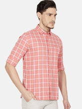Load image into Gallery viewer, Men's Cotton Slim-fit Casual Shirt-OJN1075FCoral