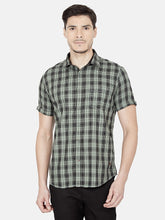 Load image into Gallery viewer, Men's Cotton Slim-fit Casual Shirt-OJN1106HGreen