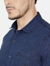Load image into Gallery viewer, Men's Printed Casual Shirt-OJN1153HDark Blue