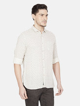 Load image into Gallery viewer, Men's Printed Cotton Slim-fit Casual Shirt-OJN1184FNatural