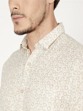 Load image into Gallery viewer, Men's Cotton Slim-fit Printed Casual Shirt-OJN1185FBeige