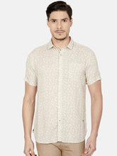 Load image into Gallery viewer, Men's Cotton Slim-fit Printed Casual Shirt-OJN1185HBeige