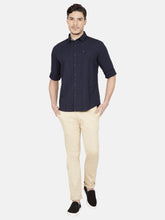 Load image into Gallery viewer, Men's Cotton Slim-fit Casual Shirt-OJN1228FNavy Blue