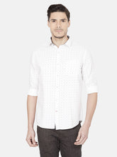 Load image into Gallery viewer, Men's Printed Slim-fit Casual Shirt-OJN1228FWhite
