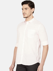 Men's Cotton Slim-fit Casual Shirt-OJN1239FPink