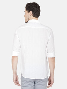 Men's Slim-fit Casual Shirt-OJN1239FWhite
