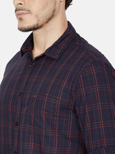 Load image into Gallery viewer, Men's Slim-fit Check Casual Shirt-OJN1261FDark Blue