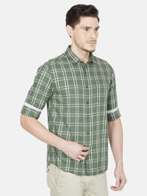 Load image into Gallery viewer, Men's Checked Cotton Casual Shirt-OJN1421FGreen