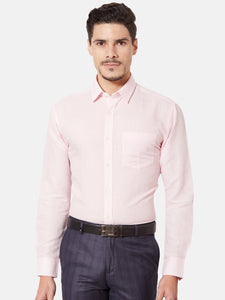 Men's Pink Cotton Slim-fit Formal Shirt-OP5626FPink
