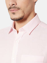 Load image into Gallery viewer, Men's Pink Cotton Slim-fit Formal Shirt-OP5626FPink