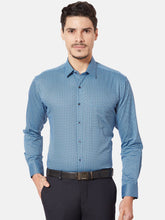 Load image into Gallery viewer, Men's Slim-fit Printed Formal Shirt-OP6157FBlue