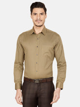 Load image into Gallery viewer, Men's Slim-fit Printed Cotton Formal Shirt-OP6157FMustard yellow