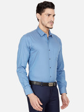 Load image into Gallery viewer, Men's Cotton Slim-fit Formal Shirt-OPSL6029FBlue