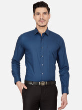 Load image into Gallery viewer, Men's Slim-fit Printed Formal Shirt-OPSL6186FNavy Blue