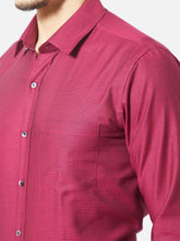 Load image into Gallery viewer, Men's Red Slim-fit Formal Shirt-OPSL6340FRed