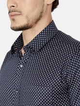 Load image into Gallery viewer, Men's Cotton Slim-fit Formal Shirt-OPSL6565FNavy Blue