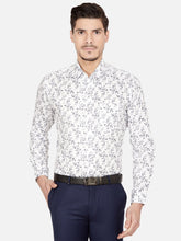 Load image into Gallery viewer, Men's Slim-fit Printed Formal Shirt-OPSL6574FWhite