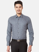 Load image into Gallery viewer, Men's Slim-fit Printed Formal Shirt-OPSL6639FGrey