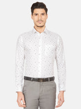 Load image into Gallery viewer, Men's Slim-fit Printed Formal Shirt-OPSL6639FWhite
