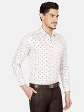 Load image into Gallery viewer, Men's Slim-fit Printed Formal Shirt-OPSL6648FWhite