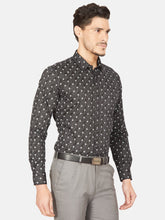 Load image into Gallery viewer, Men's Slim-fit Printed Formal Shirt-OPSL6667FBlack