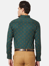 Load image into Gallery viewer, Men's Slim-fit Printed Formal Shirt-OPSL6805FGreen