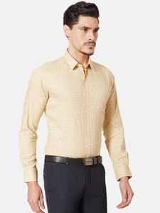 Men's Cotton Slim-fit Formal Shirt-OPSL6806FYellow