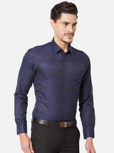 Men's Cotton Slim-fit Formal Shirt-OXSL3285FBlue