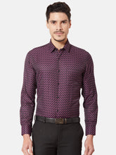 Load image into Gallery viewer, Men's Slim-fit Dobby Formal Shirt-OXSL3285FWine