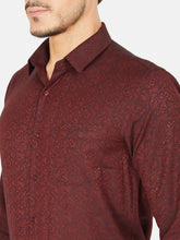 Load image into Gallery viewer, Men's Cotton Slim-fit Formal Shirt-OXSL3288FMaroon