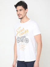 Load image into Gallery viewer, Men's Cotton Printed T-shirt-TC2445White