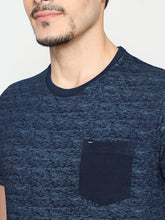 Load image into Gallery viewer, Men's Cotton Printed T-shirt-TC2450Dark blue
