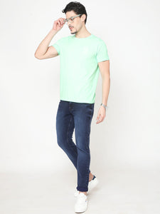Men's Cotton T-shirt-TC2496Green