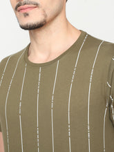 Load image into Gallery viewer, Men's Cotton Printed T-shirt-TC2512Olive