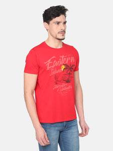 Men's Cotton T-shirt-TC5248Red