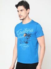 Load image into Gallery viewer, Men's Cotton Printed T-shirt-TC5249Blue