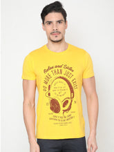 Load image into Gallery viewer, Men's Cotton Crew Neck T-shirt-TC5253Yellow