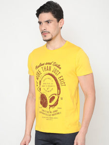 Men's Cotton Crew Neck T-shirt-TC5253Yellow