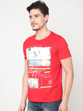 Load image into Gallery viewer, Men's Cotton Half-sleeve T-Shirt-TC6270Red