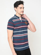 Load image into Gallery viewer, Men's Cotton Polo Neck T-shirt-TP2483Dark blue