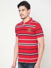 Load image into Gallery viewer, Men's Cotton Polo Neck T-shirt-TP2485Red