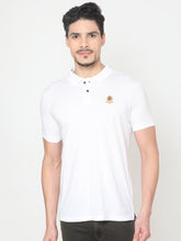 Load image into Gallery viewer, Men's Cotton Polo Half-sleeve T-Shirt-TPCS3011HWhite