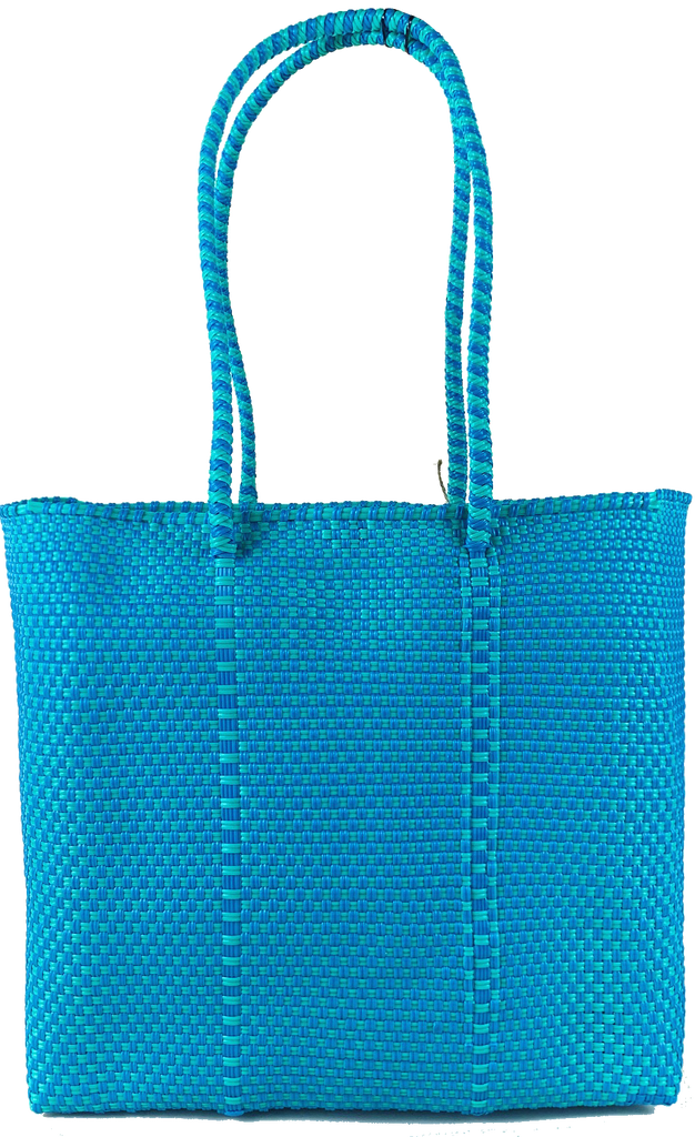 Small Tote - Turquoise and Green