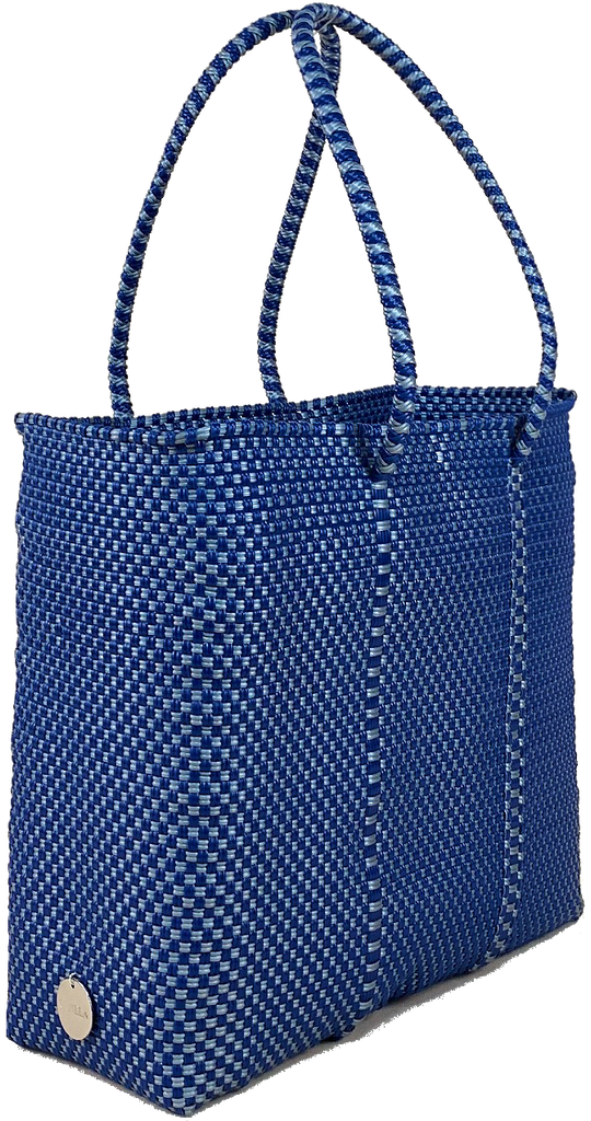 Small Tote - Navy and Silver
