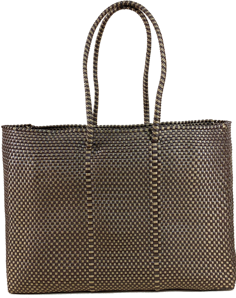 Tote - Brown and Gold
