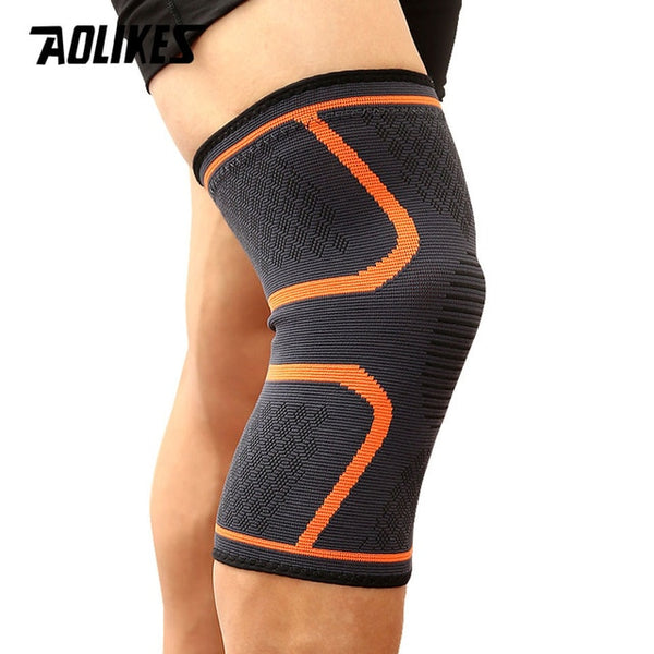 AOLIKES 1PCS Fitness Running Cycling Knee Support Braces Elastic Nylon Sport Compression Knee Pad Sleeve For Basketball